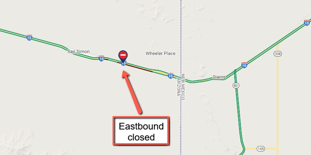 I-10 EB near San Simon closed due to crash