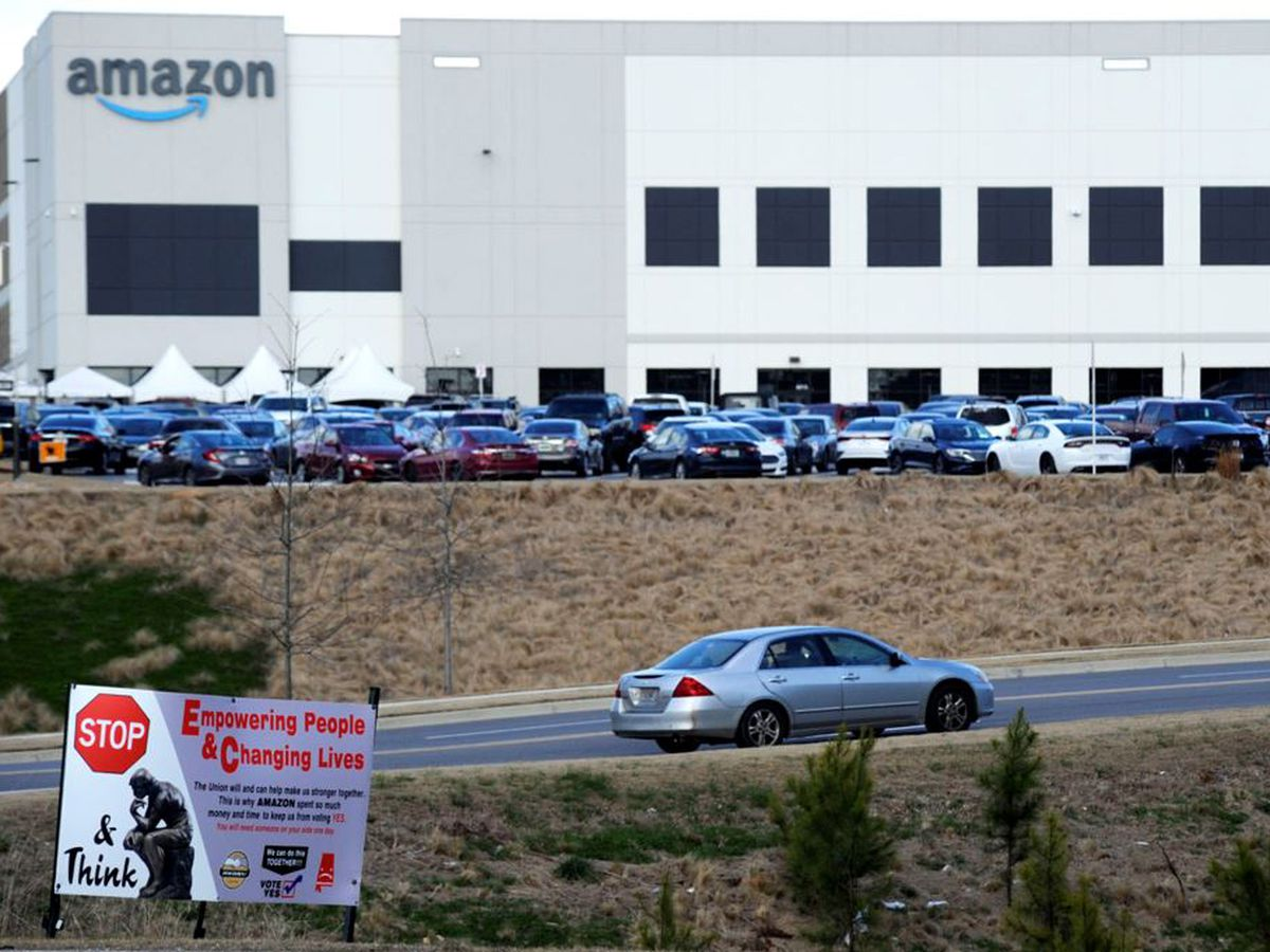 Union accuses Amazon of illegally interfering with vote