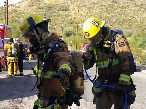 Tucson fire continues mock rescue near Tucson Convention Center on Sunday morning