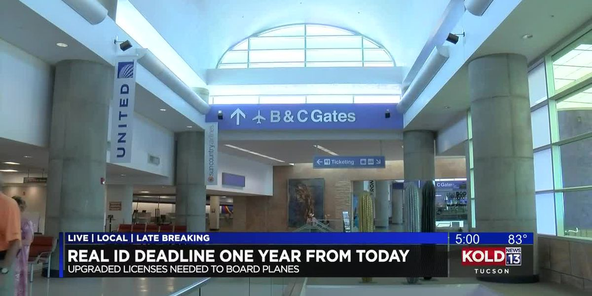 TSA to require new travel ID in AZ one year from today