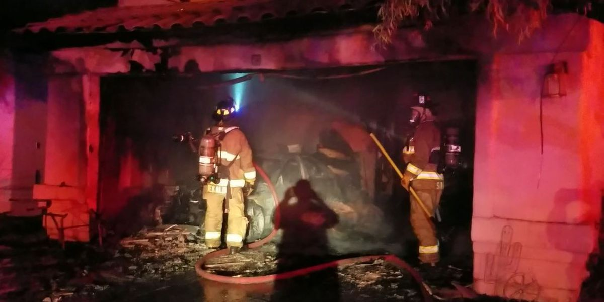 2 dogs dead after a garage fire on the northeast-side