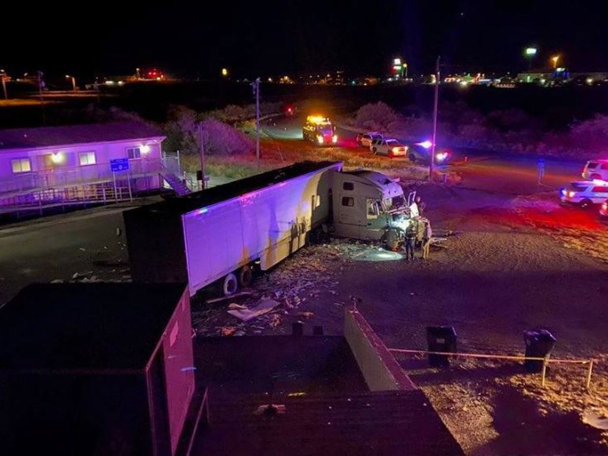Police: Truck driver likely died before crashing through Willcox Visitor Center