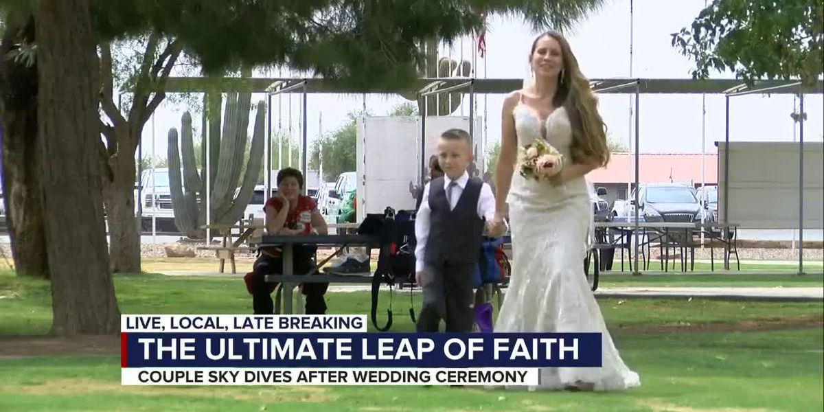 Tucson couple takes love to new heights with unique wedding
