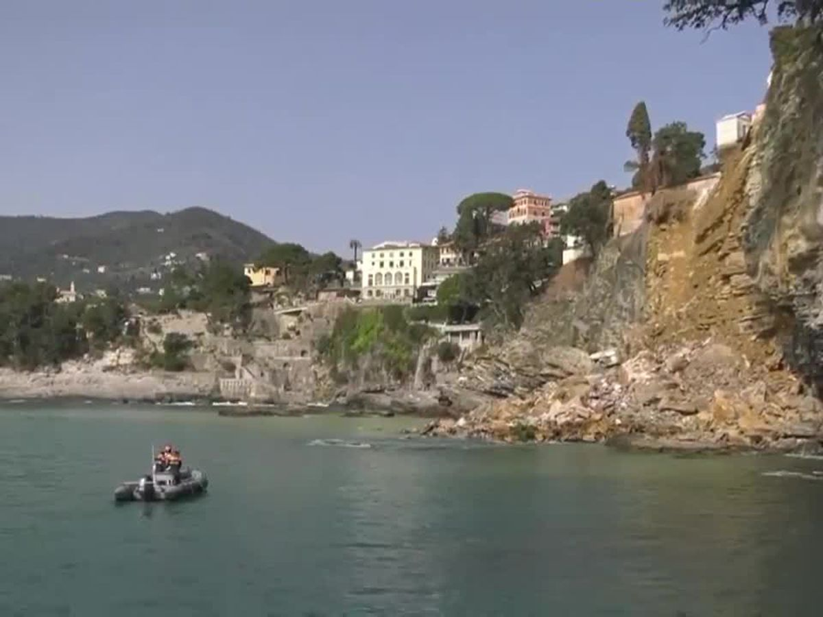 About 200 coffins fall into sea after cemetary collapses in Italy