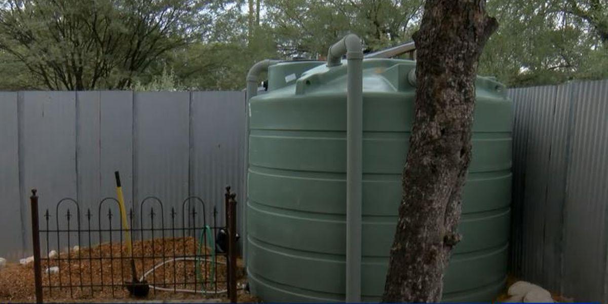 Tucsonans harvesting rainwater for future use