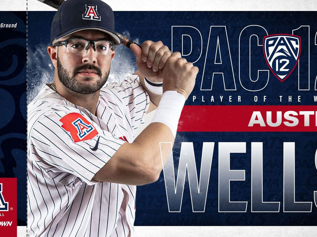 Arizona's Austin Wells named Pac-12 Player of the Week