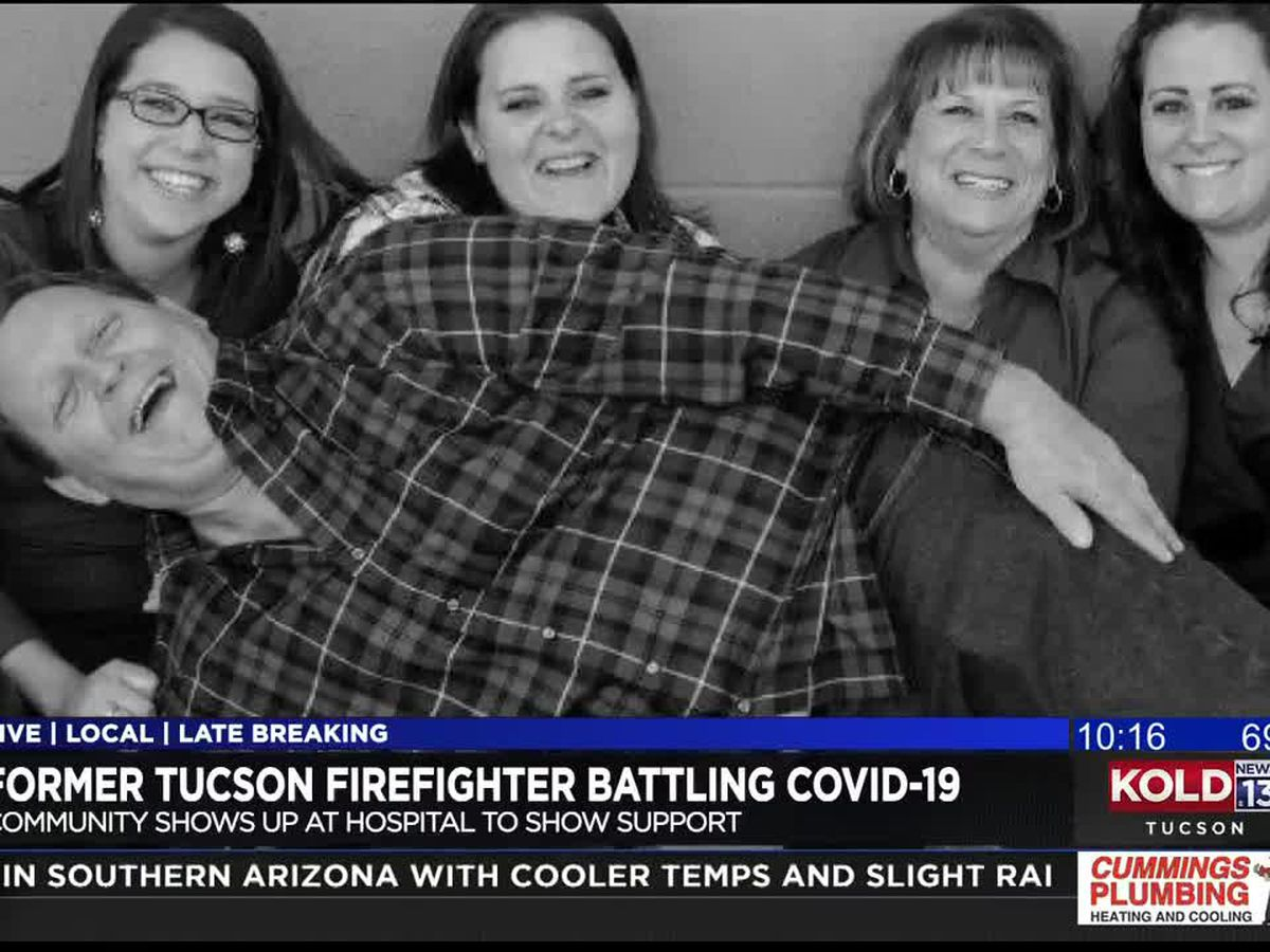 Tucson Fire Department honors retired paramedic battling COVID-19