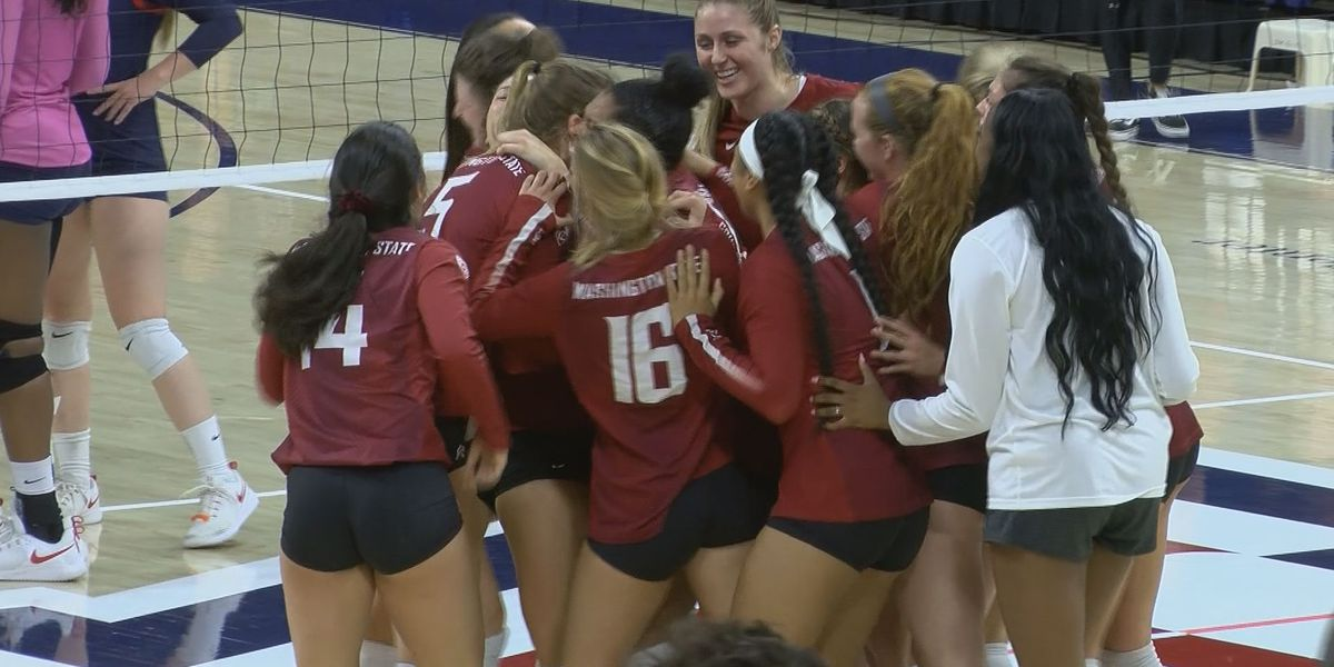 #22 Washington State comes back to defeat #21 Arizona Volleyball