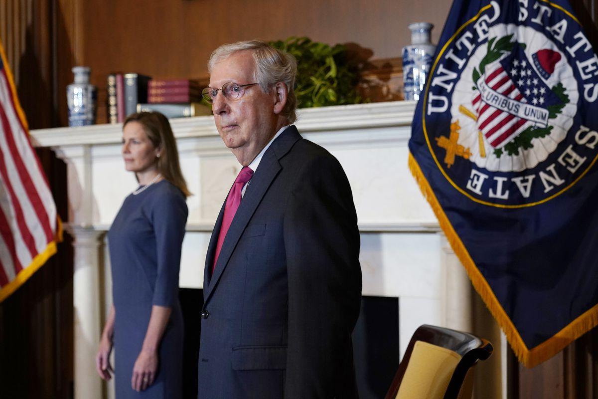 GOP seeks to call off Senate work, but not Barrett hearings