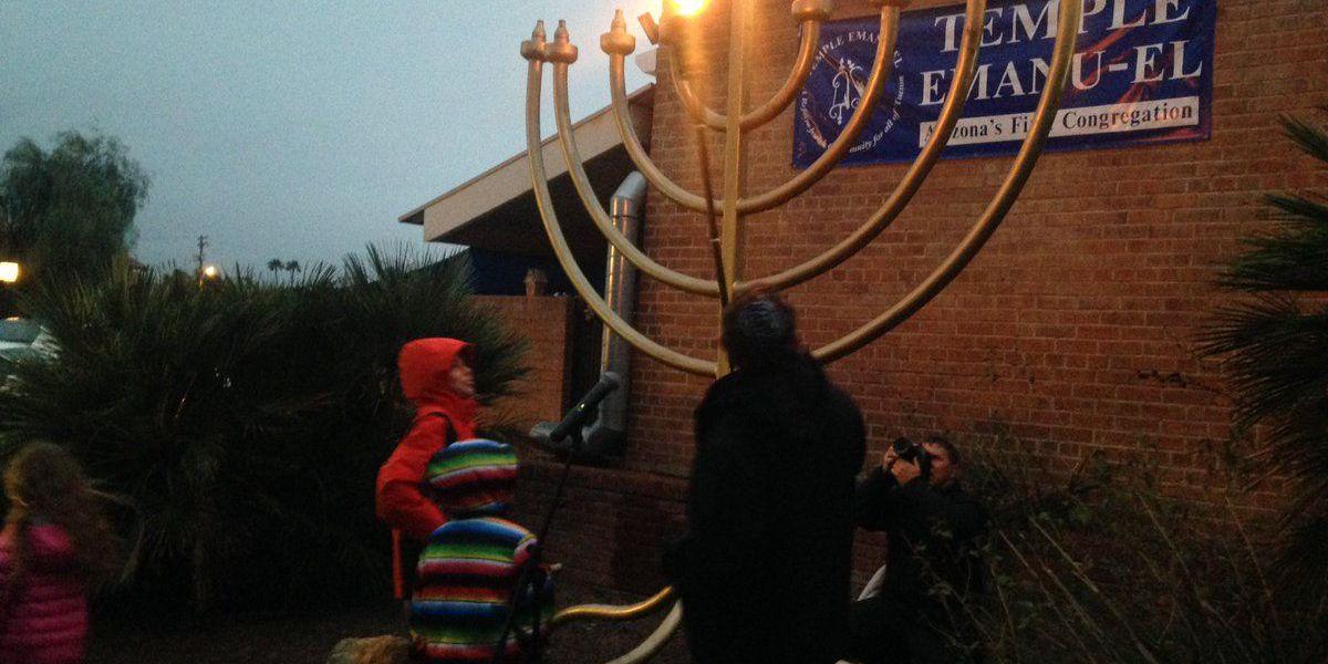 Hanukkah in Tucson begins with the lighting of the Menorah