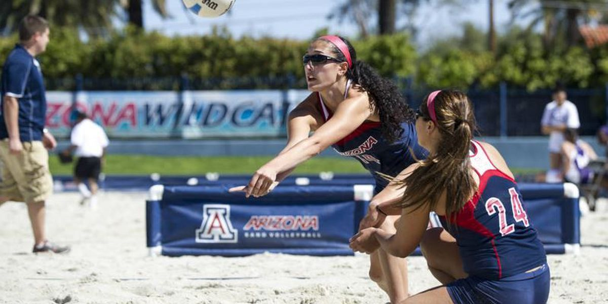 Wildcat sand volleyball starts with a sweep