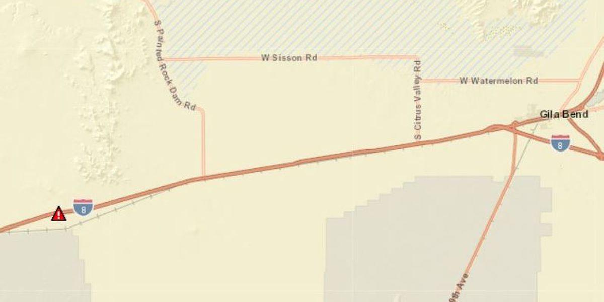 Fatal crash closes westbound I-8 near Gila Bend