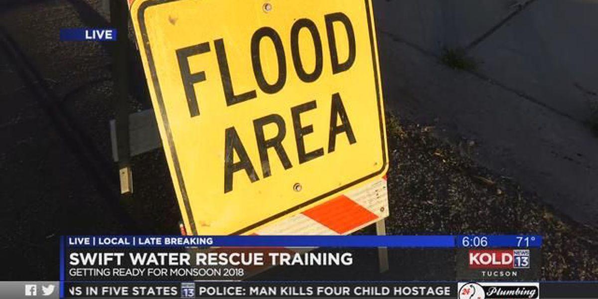 Tucson fire crews practice swift-water rescues ahead of monsoon