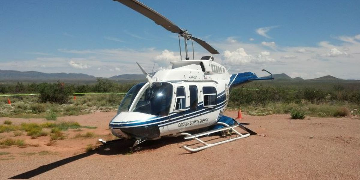 CCSO: Helicopter makes hard landing outside Tombstone