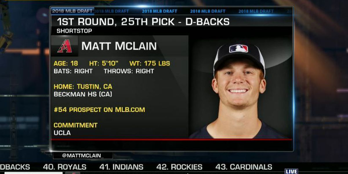 Dbacks select McLain with first round pick