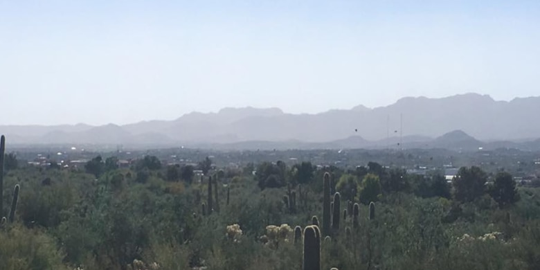 Haze over Tucson not caused by California fires