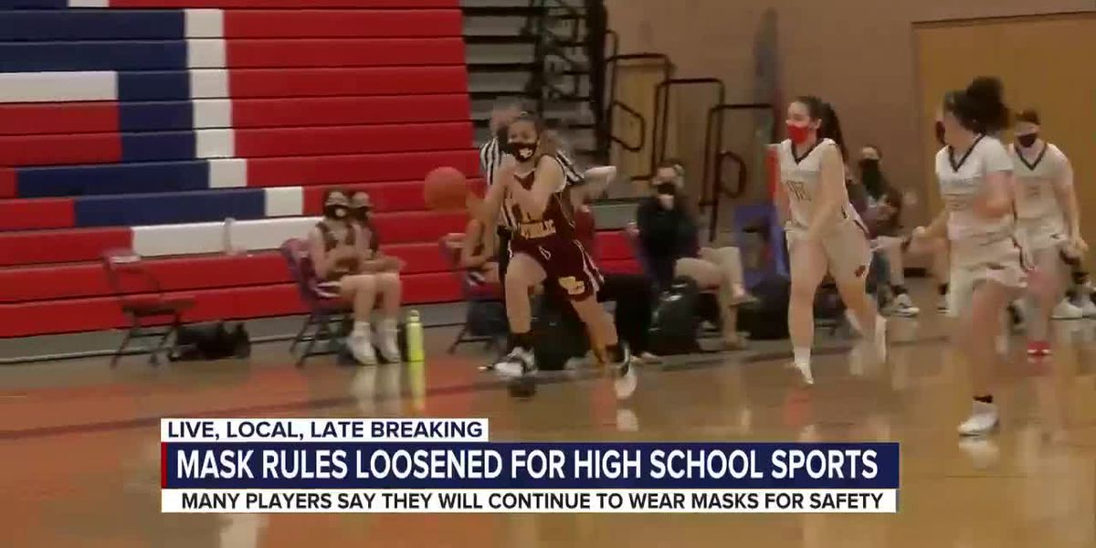 Mask rules loosened for high school sports
