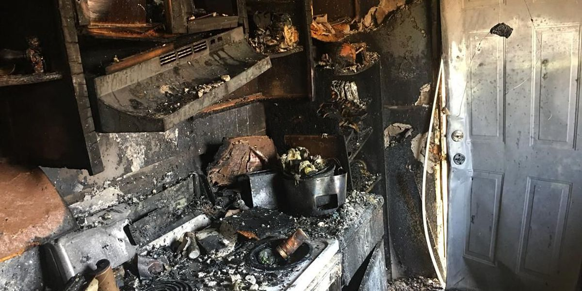Grease fire destroys kitchen, family displaced