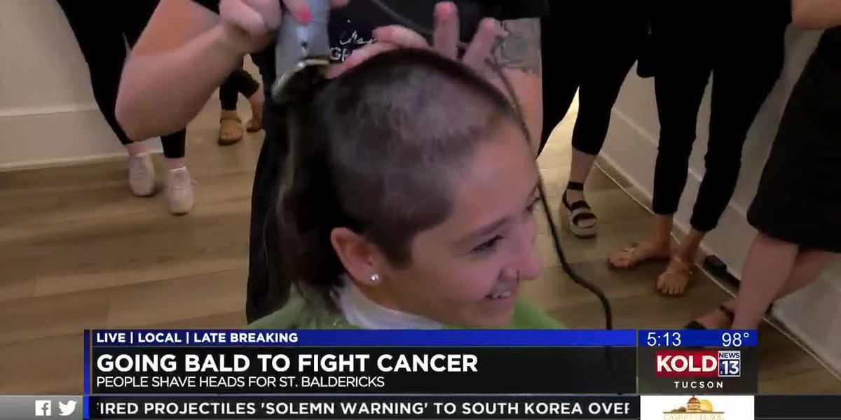 Going bald to fight cancer