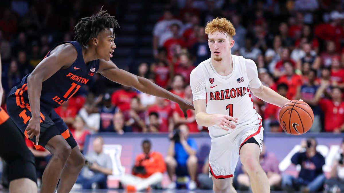 No. 21 Arizona routs Illinois 90-69 behind freshman trio
