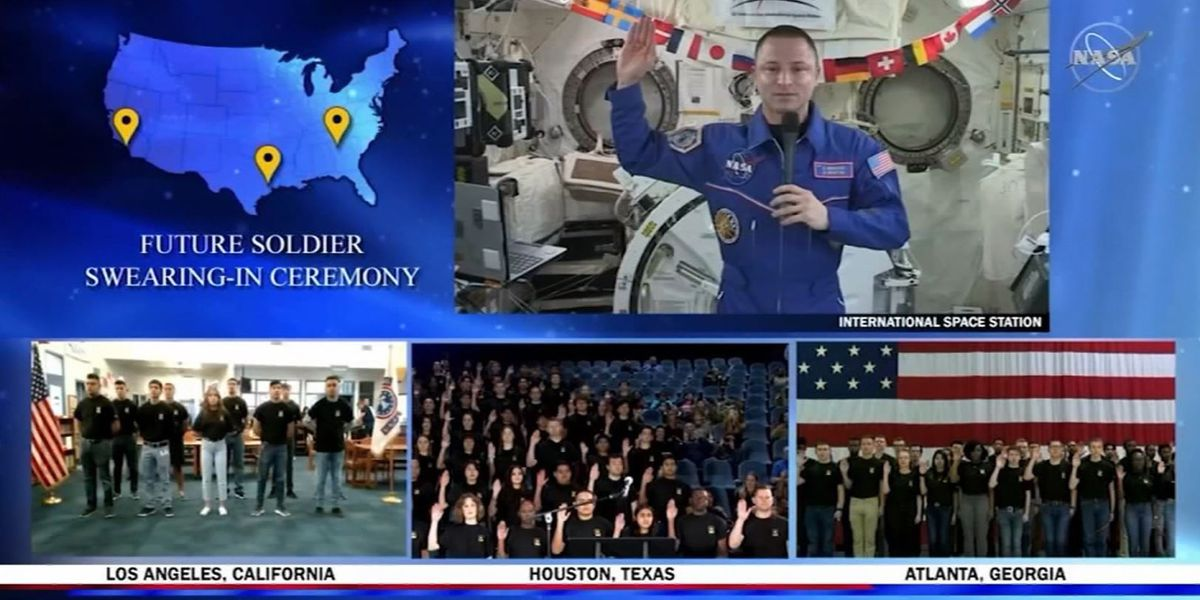 US Army recruits sworn in by NASA astronaut in orbit