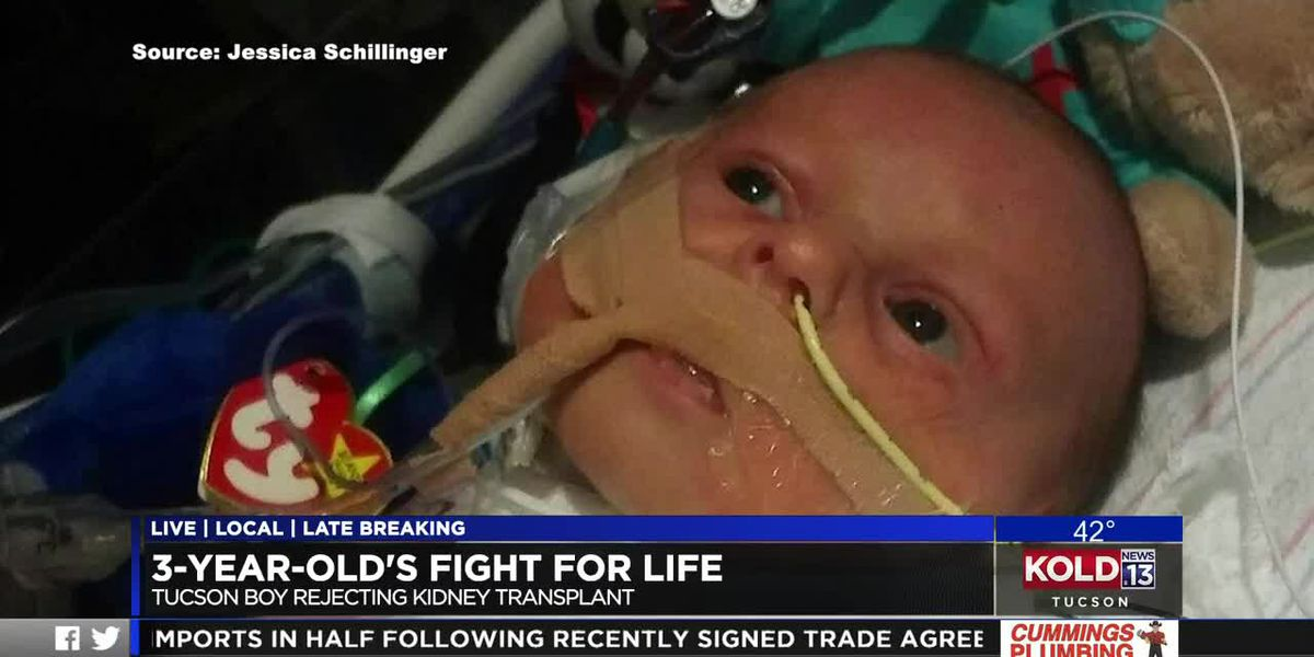 Tucson toddler fights for his life through cancer, kidney transplant
