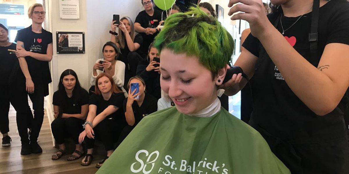 """It's just hair"" Women shave heads for cancer research"