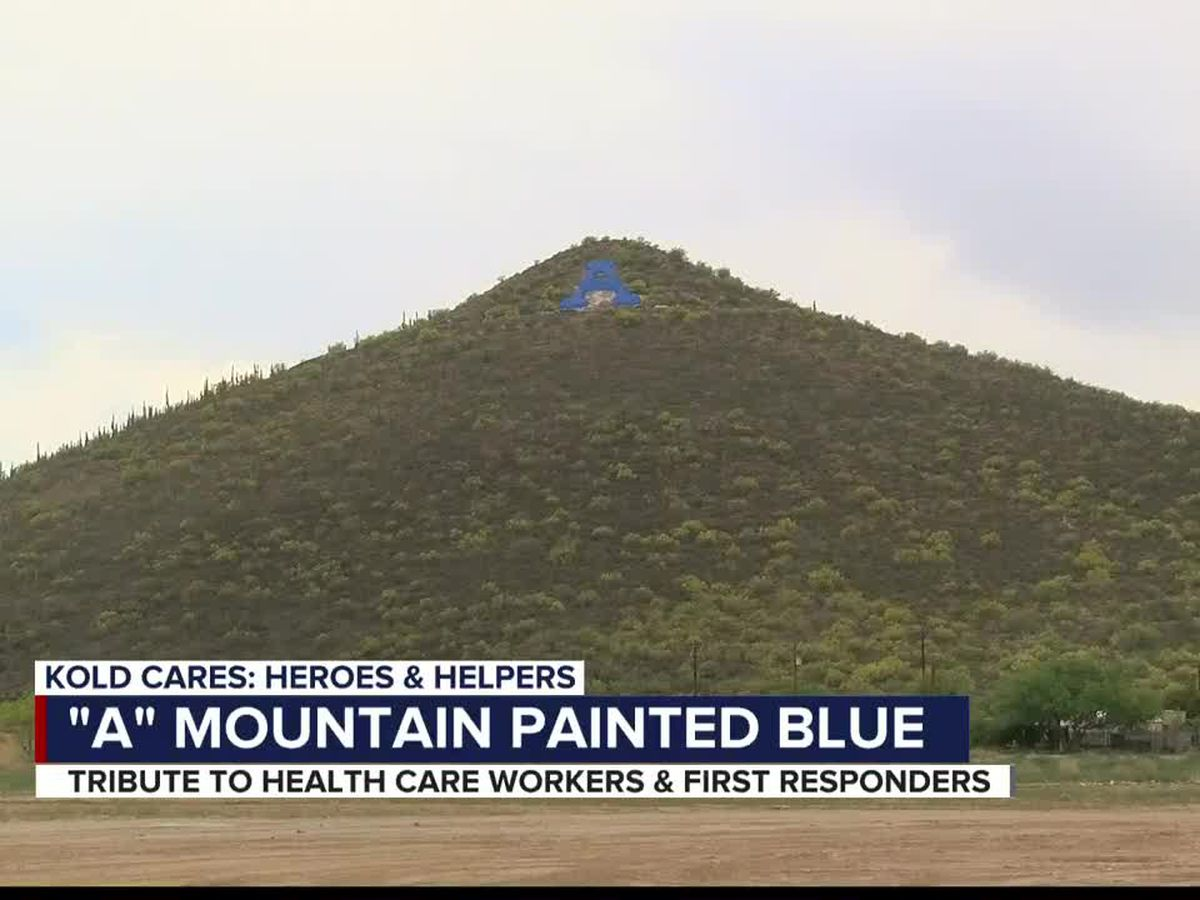 A Mountain turns blue for healthcare workers during National Nurses, National Hospital Week