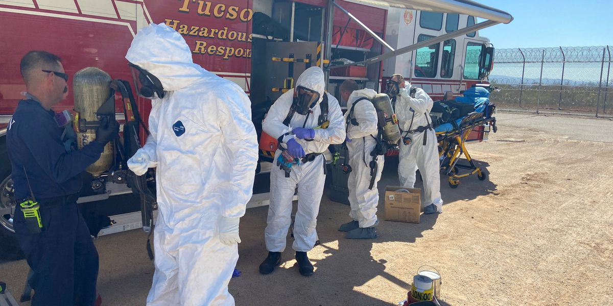 UPDATE: HAZMAT team responds to call at state prison in Tucson for possible fentanyl cleanup