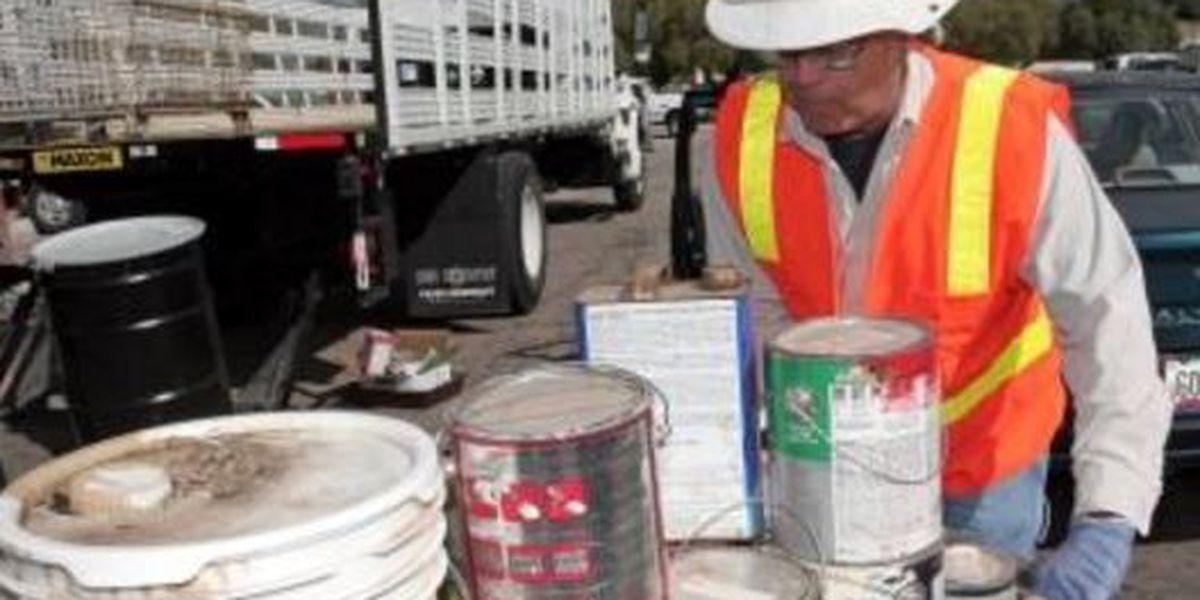 Household hazardous waste collection event on Saturday