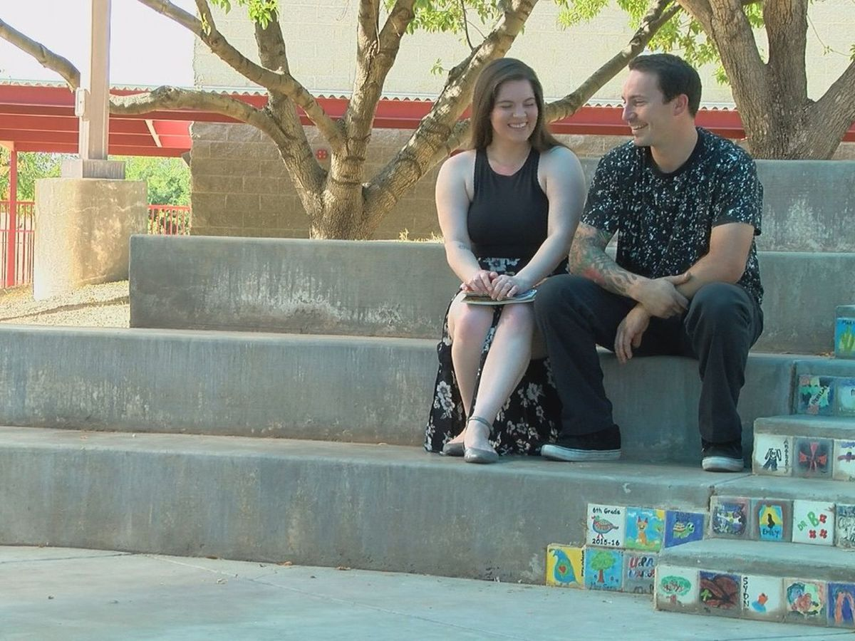 Now in their mid-20s, elementary school sweethearts get engaged at former school