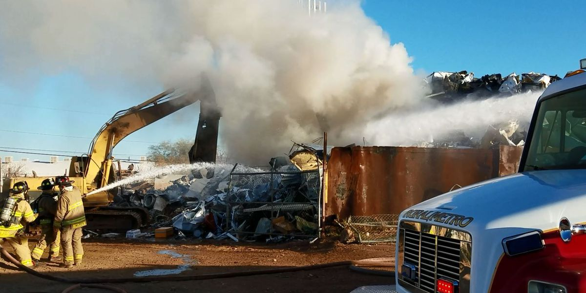 Rural-Metro FD responds to fire at scrap metal yard