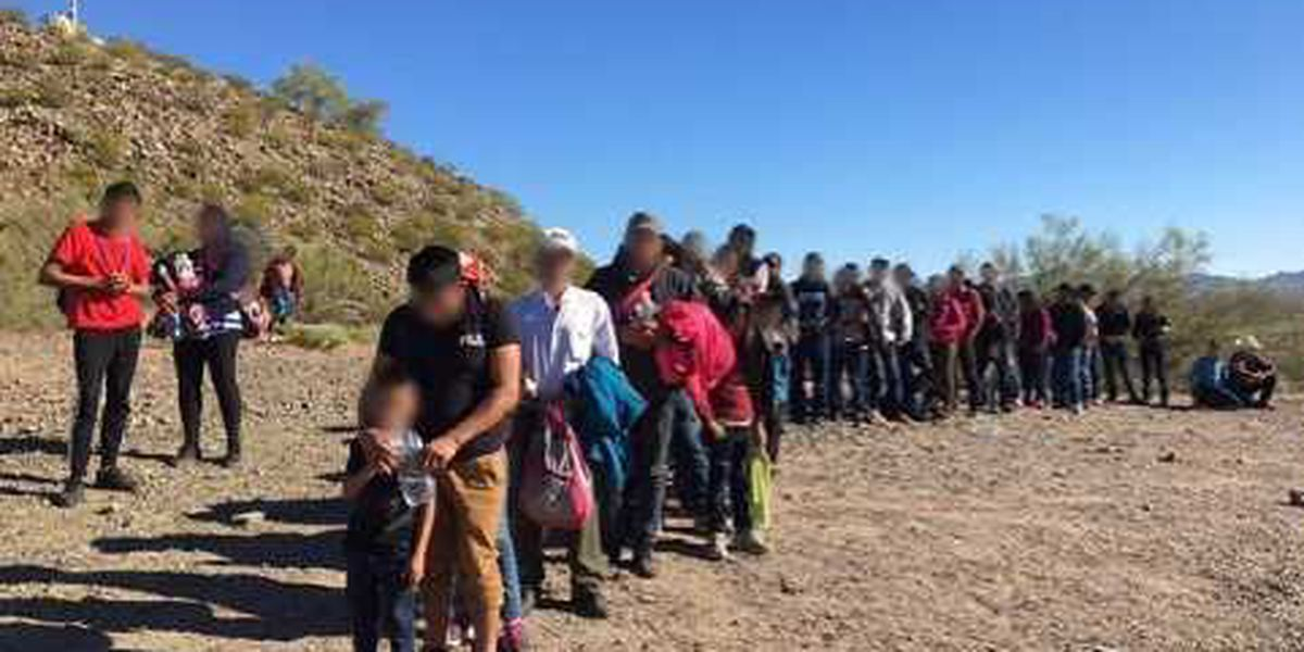 135 Central American immigrants surrender west of Lukeville