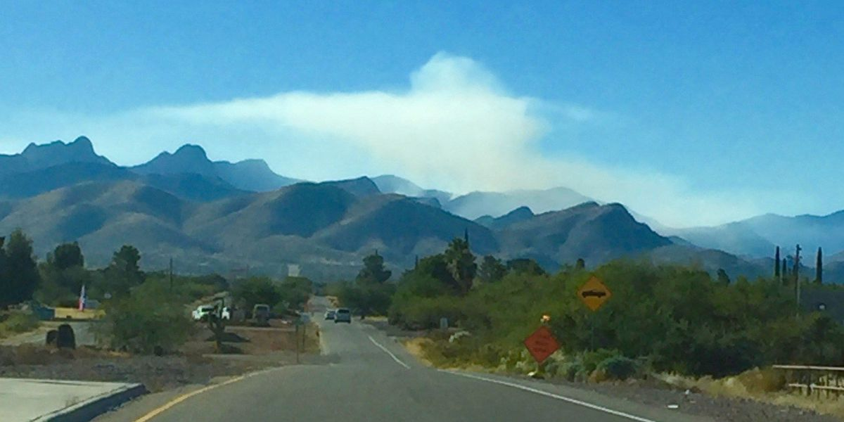 Gunsite Pass Fire 50 percent contained