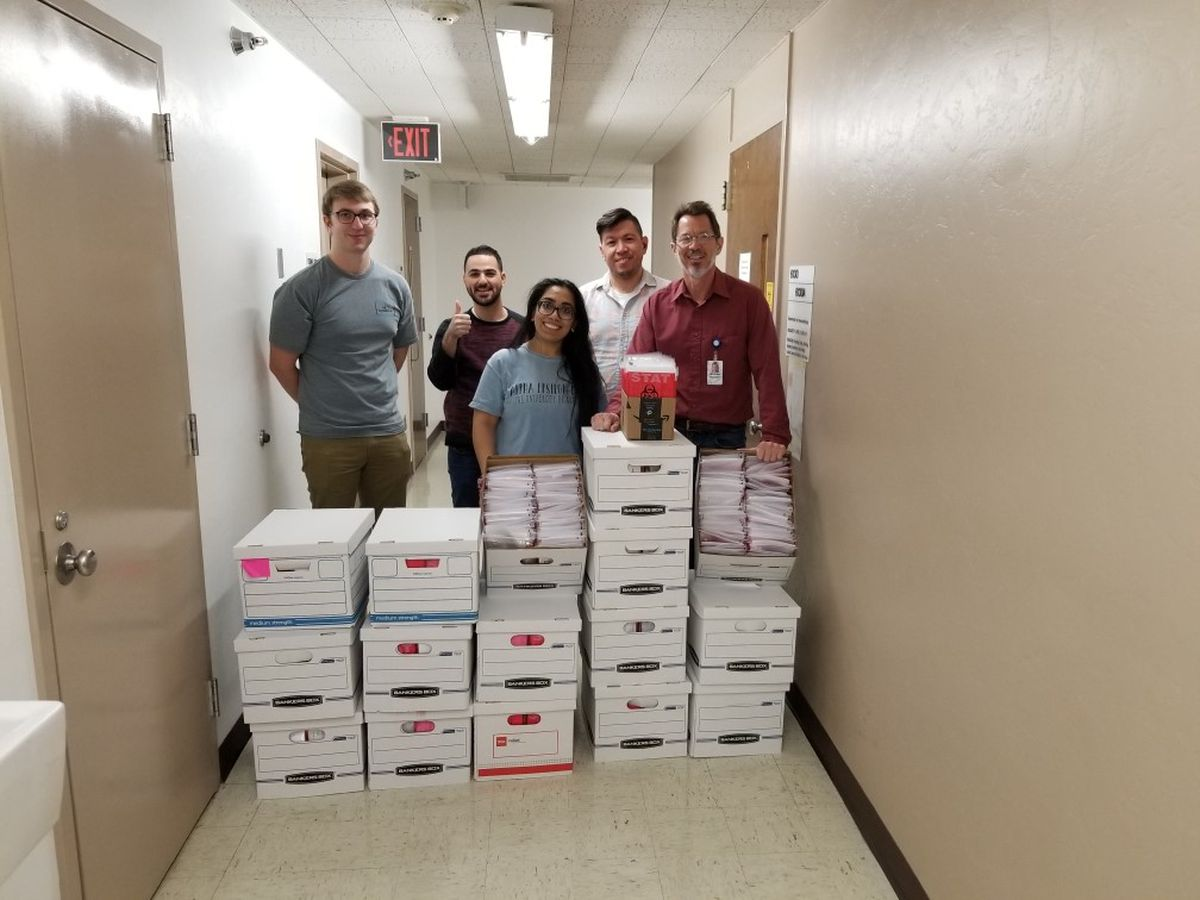 U of A team makes mores than 1,500 COVID-19 test kits over weekend