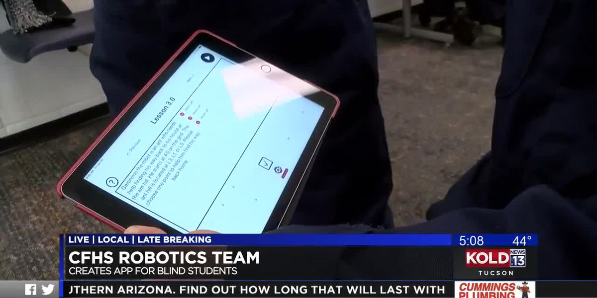 Catalina Foothills robotics club takes top prize for app