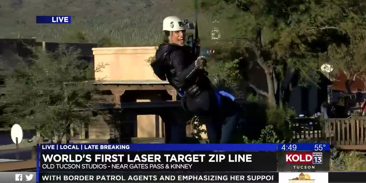World's first laser target zip line