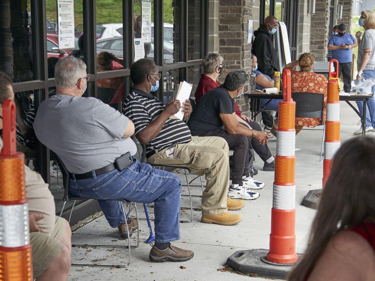 Number of laid-off workers seeking jobless aid stuck at 1.3M; US retail sales jump 7.5% in June