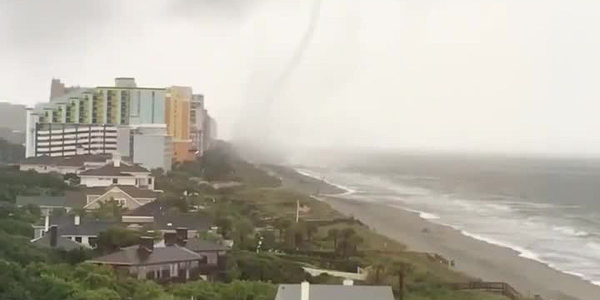 RAW: Viewer-submitted video of tornado touching down in Myrtle Beach