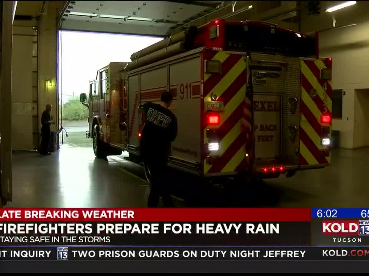 Fire departments stay ready for calls during rainy weather
