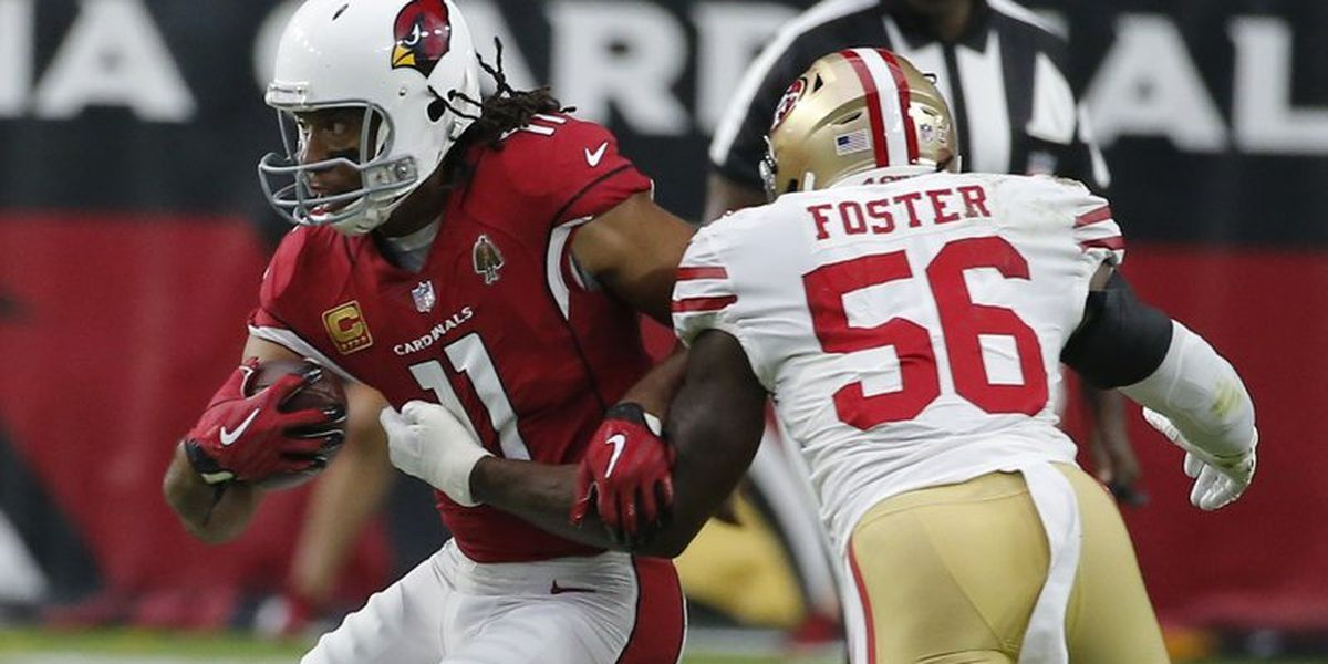 Cardinals receiver Larry Fitzgerald will take the field after recovering from COVID-19
