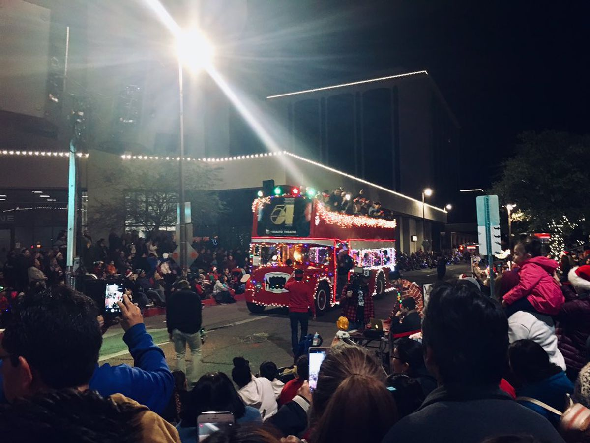 Thousands fill downtown streets for the 24th Annual Parade of Lights