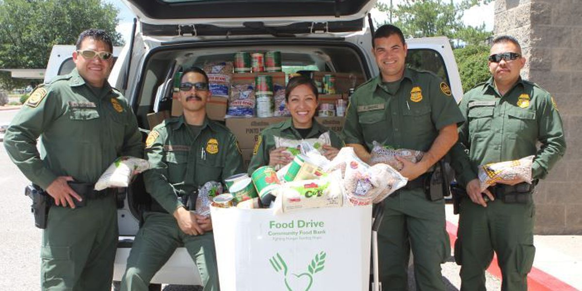 Tucson sector BP agents collect food for community food banks