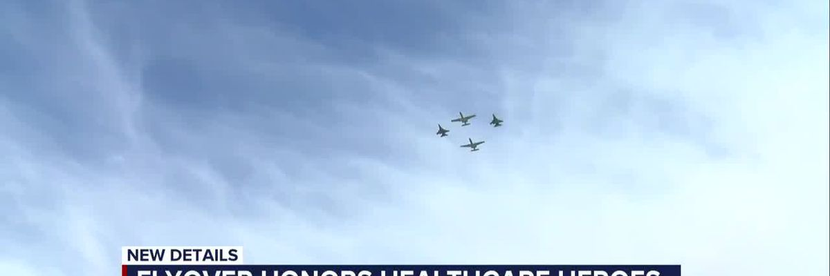 Southern Arizona flyover gives thanks to healthcare workers and first responders