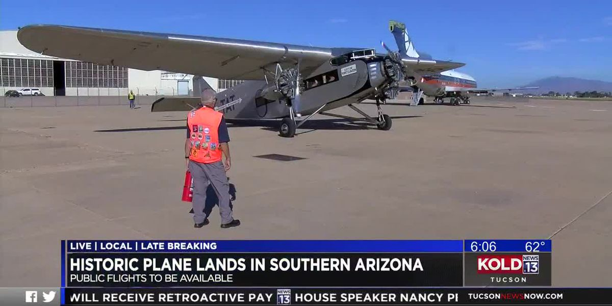 Historic plane lands in southern Arizona