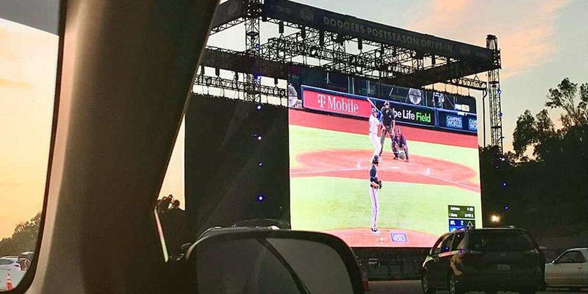 Dodgers host postseason drive-ins for fans during World Series games against Rays