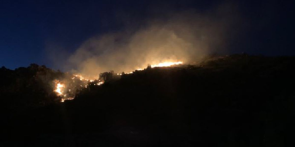 Redington Road closed because of wildfire