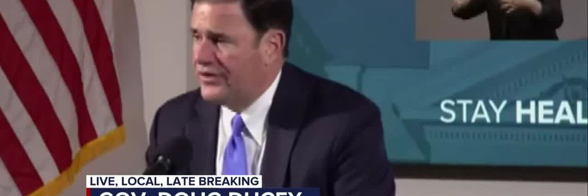 Ducey addresses protests, gives COVID-19 response