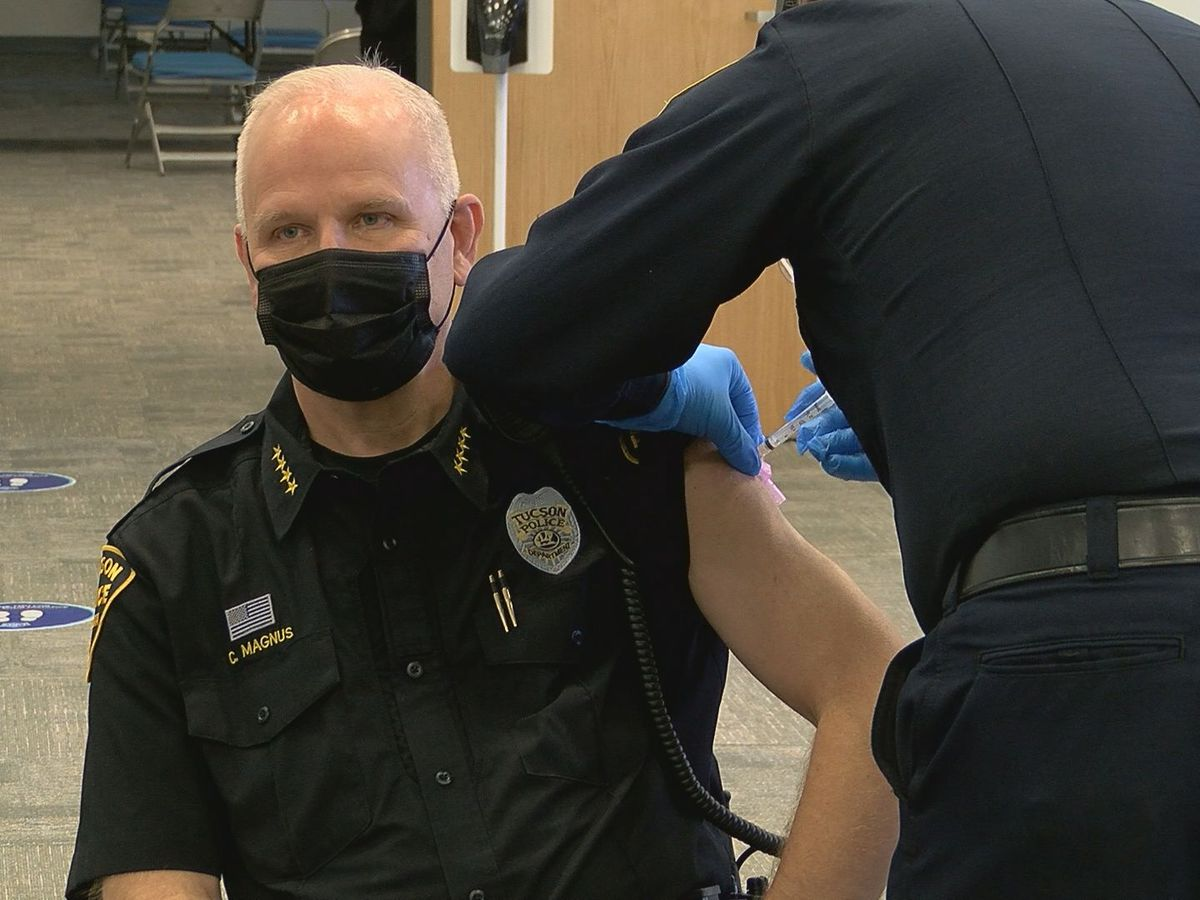Law enforcement, safety personnel get first doses at TCC
