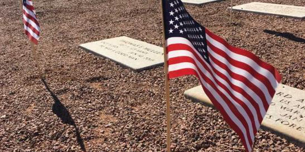 Boy Scouts place flags at veterans cemetery in Marana